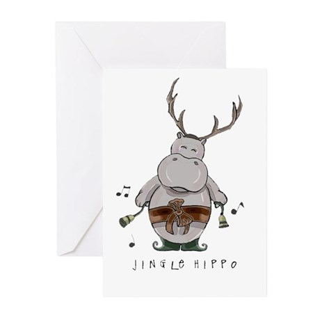 Jingle Hippo Greeting Cards (6)