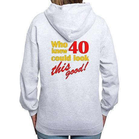 Funny 40th Birthday Gag Gifts Women's Zip Hoodie