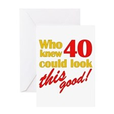 Funny 40th Birthday Gag Gifts Greeting Card