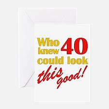 Funny 40th Birthday Gag Gifts Greeting Card