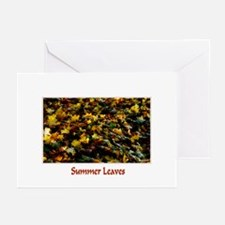 Summer Leaves  Greeting Cards (Pk of 10)