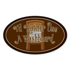 Washboard Scrub Oval Decal