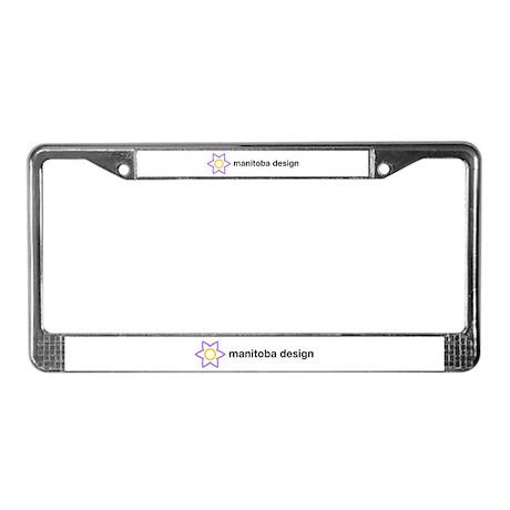 manitoba design License Plate Frame