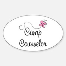 Camp Counselor Oval Decal