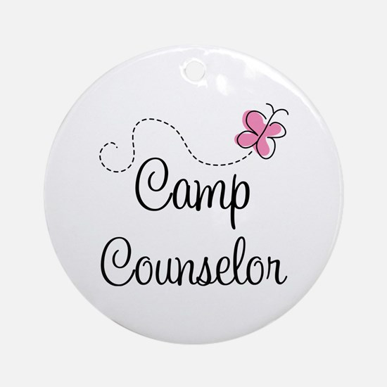 Camp Counselor Ornament (Round)