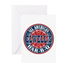 Elwell's All American BBQ Greeting Card