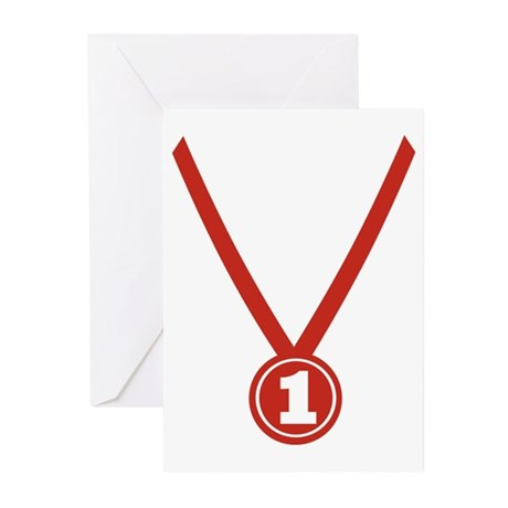 Medal - Champion Greeting Cards (Pk of 10)