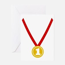 Gold Medal - Winner Greeting Card