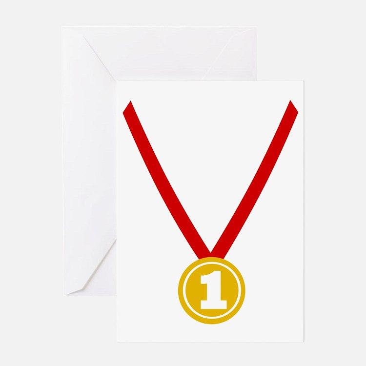 Gold Medal - Winner Greeting Card