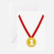 Gold Medal - Winner Greeting Cards (Pk of 10)