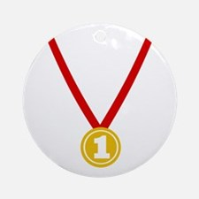 Gold Medal - Winner Ornament (Round)