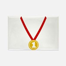 Gold Medal - Winner Rectangle Magnet
