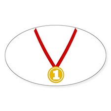 Gold Medal - Winner Oval Sticker (10 pk)