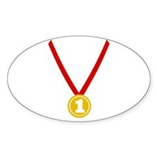 Gold Medal - Winner Oval Decal