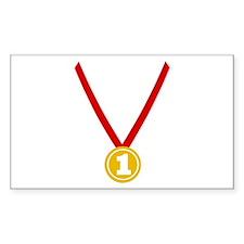 Gold Medal - Winner Rectangle Decal