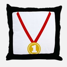 Gold Medal - Winner Throw Pillow