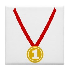Gold Medal - Winner Tile Coaster