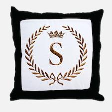 Napoleon initial letter S monogram Throw Pillow