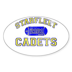 STARFLEET Cadet Athletics Oval Sticker (50 pk)