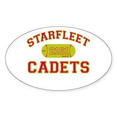 70's STARFLEET Cadet Athletics Oval Decal