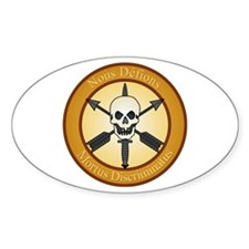 Special Forces Nous Defions 2 Oval Decal