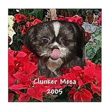 Clunker Mesa Christmas Tile Coaster