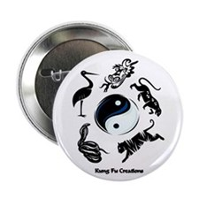"5 animal Kung Fu logo 2.25"" Button (10 pack)"
