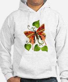 Orange/Brown Stained Glass Butterfly Hoodie