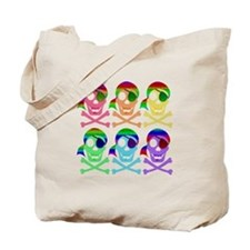Rainbow Pirate Skulls Tote Bag