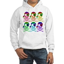 Rainbow Pirate Skulls Jumper Hoody