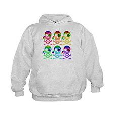 Rainbow Pirate Skulls Hoody
