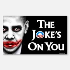 The Joke's on You! Rectangle Decal