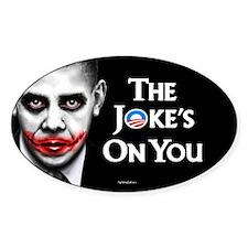 The Joke's on You! Oval Sticker (10 pk)