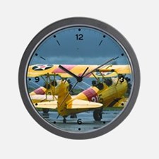 2 Stearman Wall Clock
