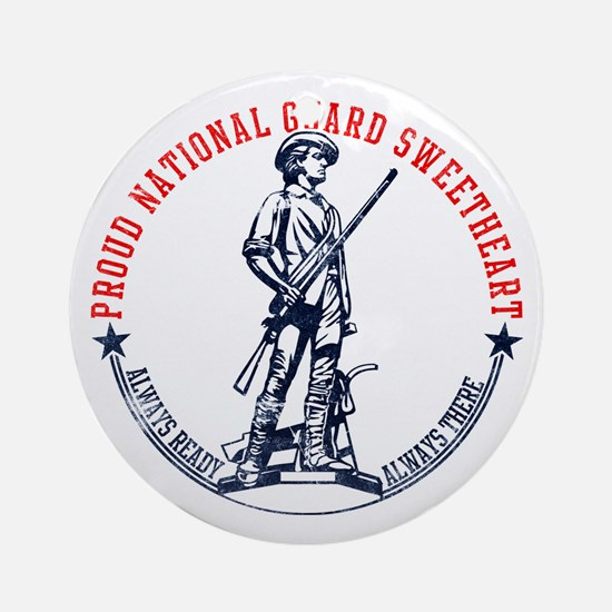 National Guard Sweetheart Ornament (Round)