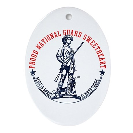 National Guard Sweetheart Oval Ornament