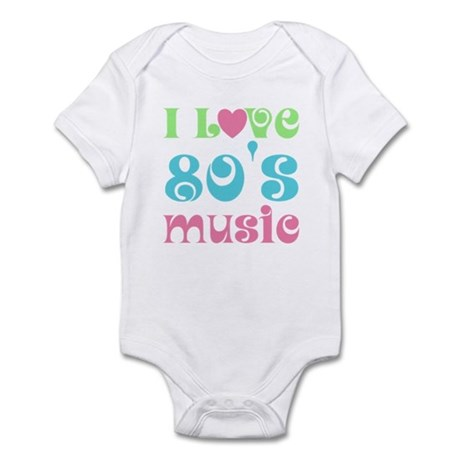 I Love 80's Music Infant Bodysuit