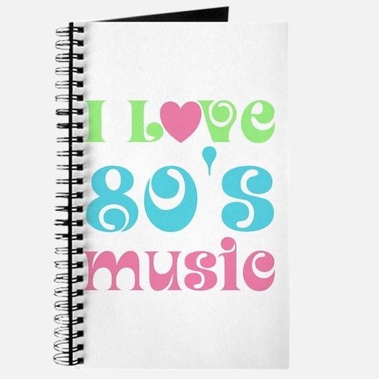 I Love 80's Music Journal