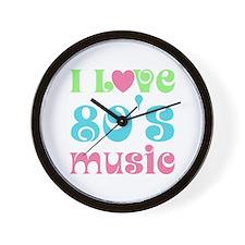 I Love 80's Music Wall Clock