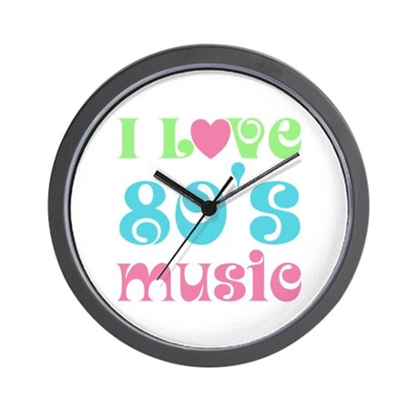 I Love 80's Music Wall Clock