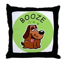 Cute Booze Throw Pillow