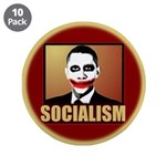 "Socialism Joker 3.5"" Button (10 pack)"
