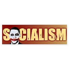 Socialism Joker Bumper Car Sticker