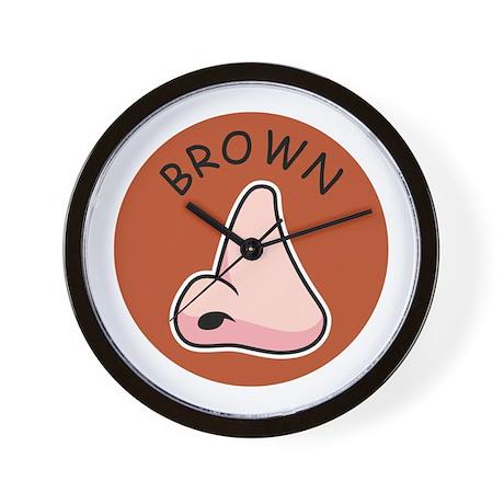 Brown Noser Wall Clock