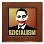 Socialism Joker Framed Tile