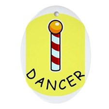 Pole Dancer Oval Ornament