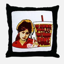 Cute Burger king Throw Pillow
