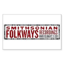 Smithsonian Folkways Rectangle Sticker