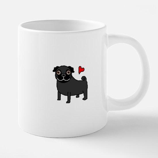 PugBlack.bmp 20 oz Ceramic Mega Mug