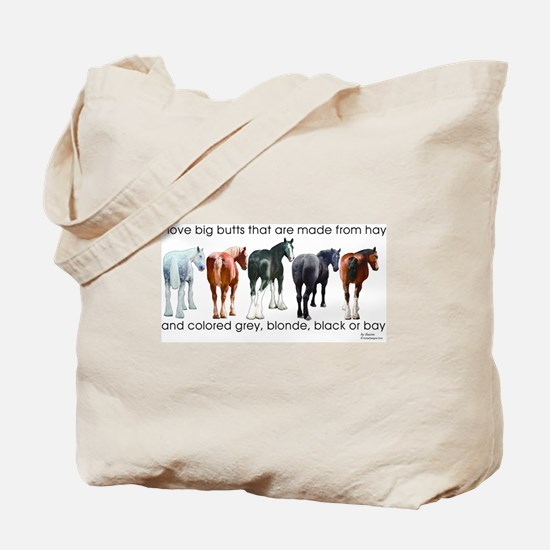 Hay Butts Tote Bag